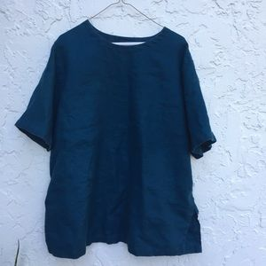 EILEEN FISHER Size Large Oversized Linen Blouse